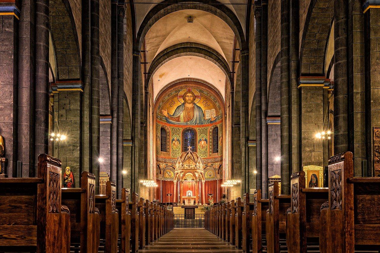 Inside French Catholic Church